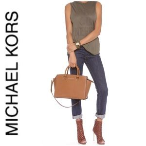 NWT authentic MK leather Brandi satchel luggage